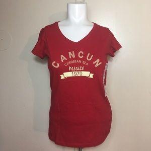 Cancun Caribbean Sea Mexico Women's Shirt Small
